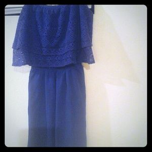 Vera Wang Princess, violet mini dress
